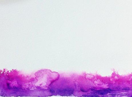 Watercolor, Pink, Purple, Gas, Splatter, Texture