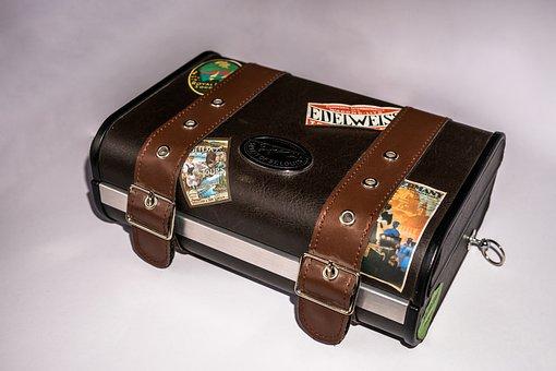 Portable Radio, Luggage, Leather, Old Suitcase, Antique