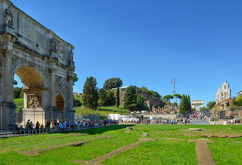 Rome, Roman, Ruins, Forum, Colosseum, Arch, Constantine