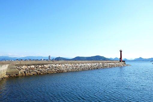 Sea Of Japan, Ao, Pile Of Stones, Sea, Sky, Seaside