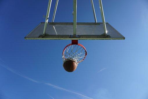 Basketball, Basket, Basket Ring, Sport, Sky, Dynamics