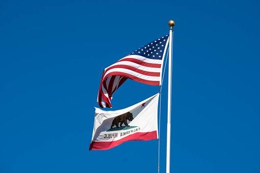 Flag, California, Usa, United, America, State, Banner