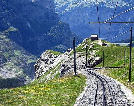 Switzerland, Jungfrau Railway, Descent, Eiger West Side