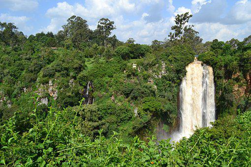 Kenya, Water, Africa, Nature, Travel, Waterfall, Green