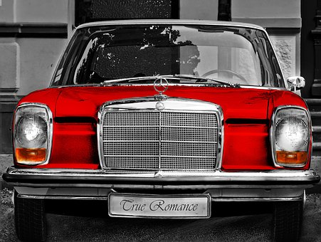 Mercedes W115, W115, 115, Retro, Car, Red, Old Car