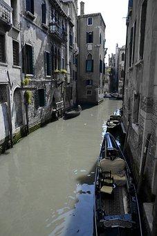 Venice, Gondola, Water Channel, Ship Way