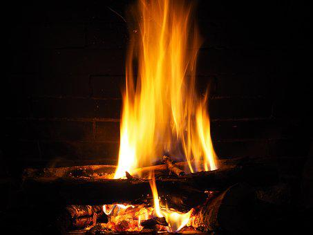 Ashes, Embers, Fire, Red, Beauty, Fireplace, Wood