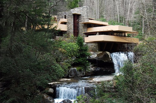 House In Nature, House, Falling Water, Architecture