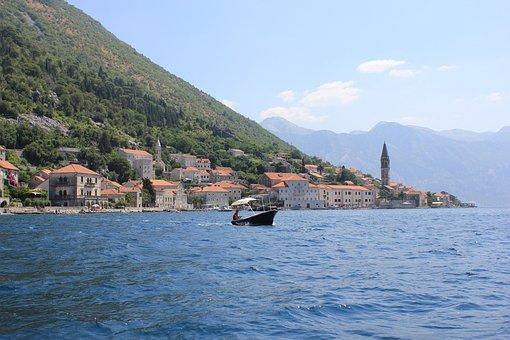 Montenegro, Perast, Boka, Bay, Boka Bay, Landscape, Sea