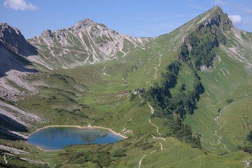 Lake, Bergsee, Pool, Landsberger Hut, Stone Kar Tip
