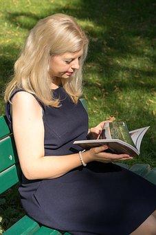 Woman, Blond, Reads, Book, Human, Munich