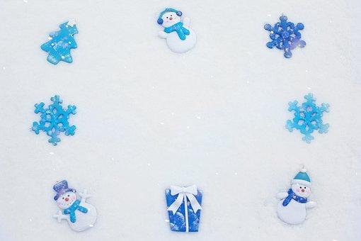Border, Winter Border, Snow, Snowflakes, Snowmen, Edge
