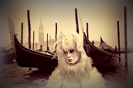 Venice, Venice Carnival, Mask, Costume, Panel, Carnival
