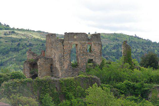 Castle, Ruin, Heritage, Cathar Country, Cathar Castle