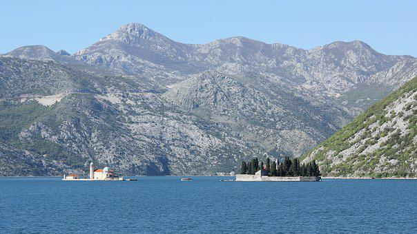 Perast, Montenegro, Landscape, Sea, Bay, Summer, Europe