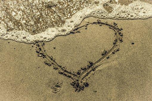 Faded Love, Love, Heart, Romantic, Fade, Shape, Sand
