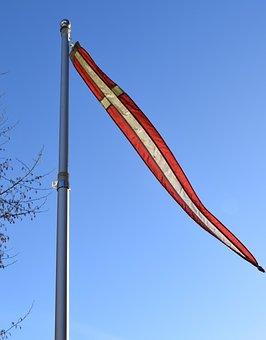 Denmark, Danish Flag, Dannebrog, Flagpole, Danish