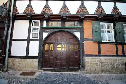 Truss, Facade, Wooden Door, Housewife, Middle Ages