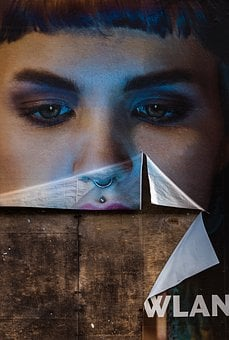 Woman, Eyes, Face, Mute, Poster, Sad, Human, View, See