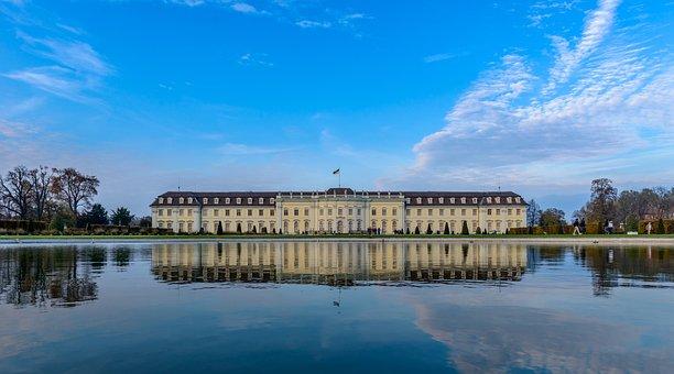 Ludwigsburg Germany, Castle, Baden Württemberg, Lake