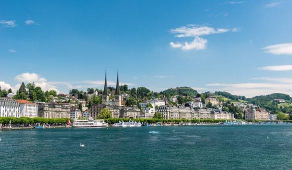 Lucerne, Switzerland, Lake Lucerne Region, Church, View