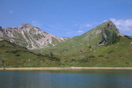 Stone Kar Tip, Red Lace, Lake, Bergsee, Pool