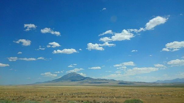 Mountains, Sky, Landscape, Blue, Clouds, Nature, Air