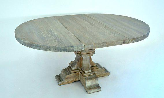 Oval, Table, Solid, Oak
