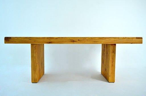 Solid, Oak, Tabletop, Furniture