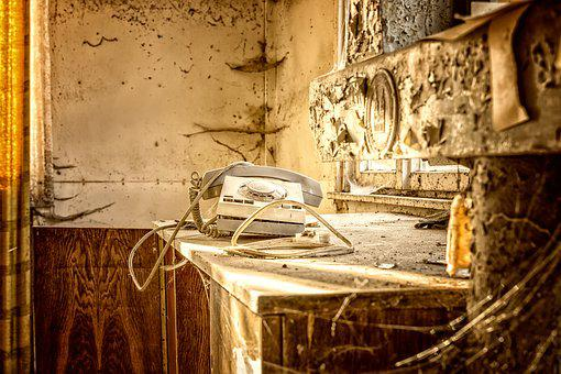 Lost Places, Phone, Spider Webs, Leave, Atmosphere