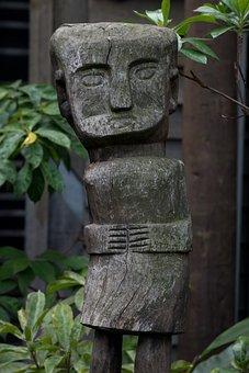 Melbourne Zoo, Voodoo, Statue, Wood, Sculpture, Tribal