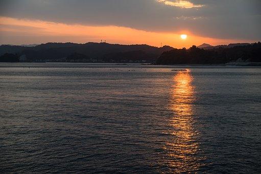 Saganoseki, Oita, Sunset, Sunset In Japan Japan, Cloud