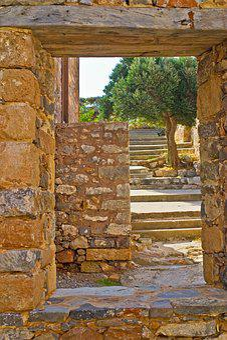 Travel, Old, Island, Spinalonga, Crete, Grow, Olives