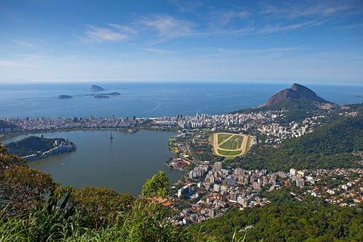 Rio De Janeiro, Aerial View, Lagoa Rodrigo De Freitas