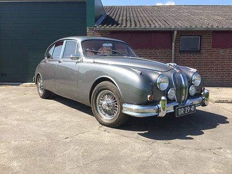 Jaguar Mk2, Oldtimer, Car, Antique, Automotive, Vehicle