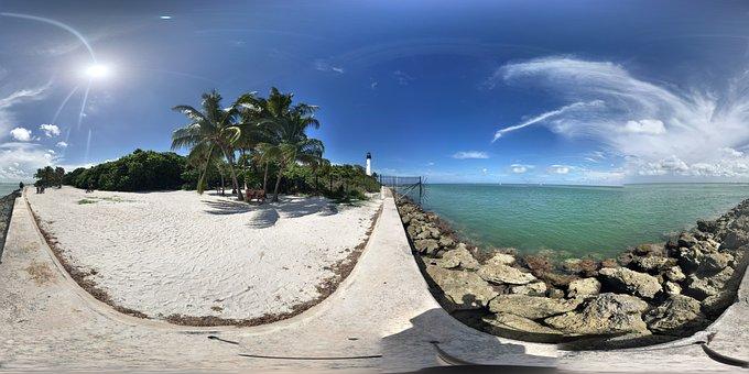 Key Biscayne, Beach, Nature, Sea, Ocean, Florida