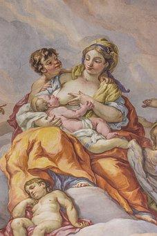 Fresco, Baroque, Mural, Church, Biblical, Historically