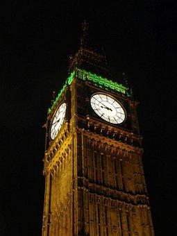 Big Ben, England, Church, Places Of Interest, London