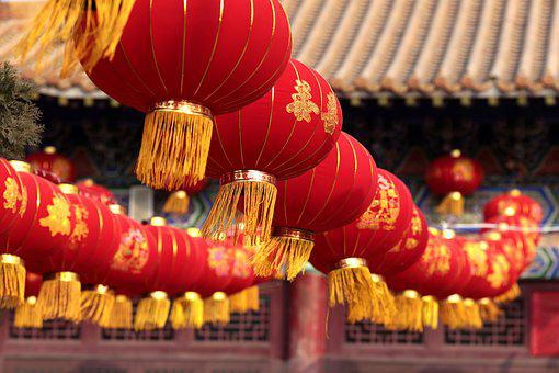Lantern, Guo Feng, Buddhism In New Year