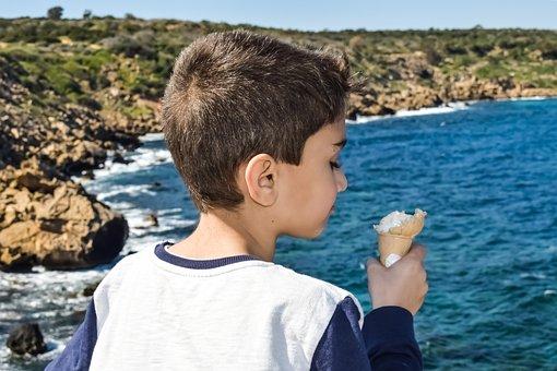 Boy, Ice Cream, Child, Happy, Carefree, Childhood