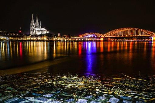 Cologne, Deutzer Bridge, Bridge, Dom, Cologne Cathedral