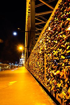 Cologne, Deutzer Bridge, Long Exposure, Castles