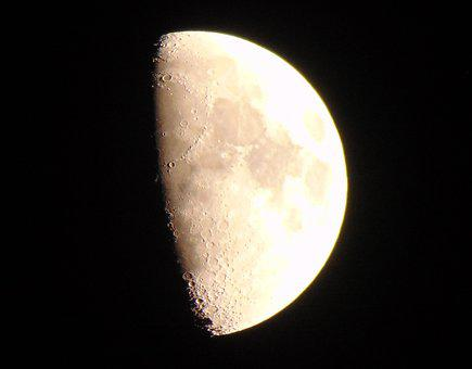 Moon, Brown Moon, Crater Moon, Craters, Bright Moon