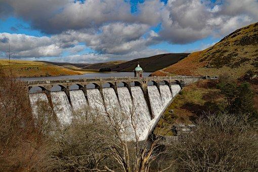 Graig Coch, Dam, Wales, Reservoir, Uk, Elan Valley