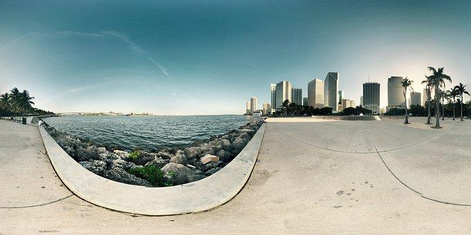 Downtown, Beach, Nature, Sea, Ocean, Florida, Outdoor