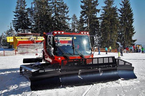 Groomer, Snow, Winter, The Ski Slope, Edit, Machine