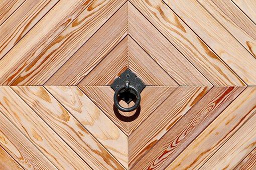 Wooden Door, Call Waiting Ring, Geometric Shape