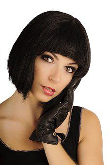 Retro, Beauty, Hair, Bob, Bobbed, Hairstyle, Black