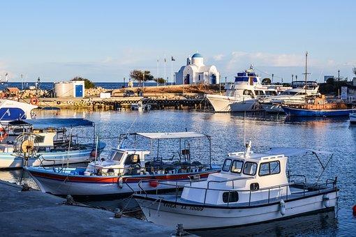 Cyprus, Protaras, Harbor, Island, Fishing Shelter