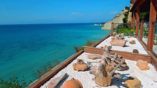 Cape Drastis, Beach, The Cliffs, Peroulades, Sea, Ionic